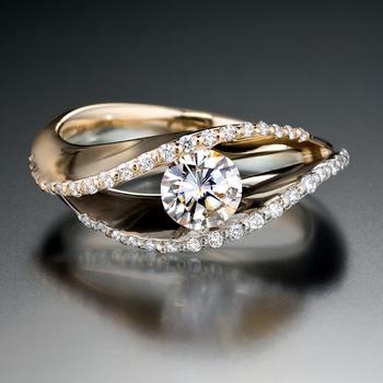 """""""Golden Light"""" engagement ring"""