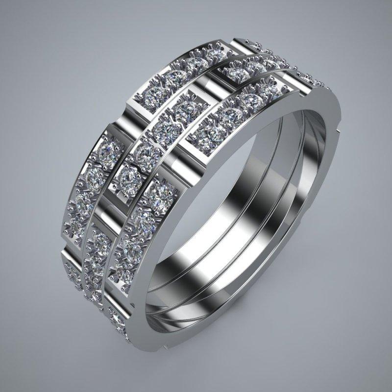 Antony Jewelers Modern diamond wedding band