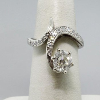 Vintage by-pass engagement ring