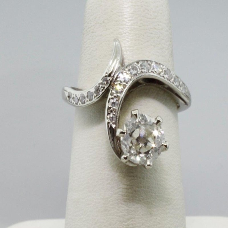 Antony Jewelers Vintage by-pass engagement ring