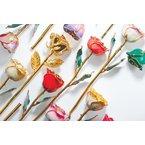 Calvin Broyles Burgundy Gold Dipped Rose