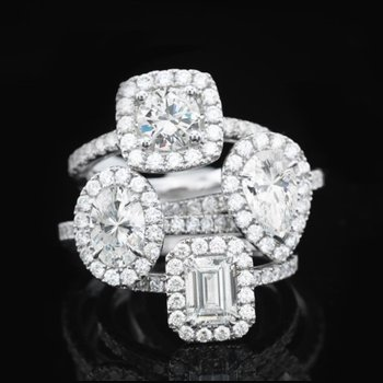 Proposal Ready 3/4 Carat Oval Shape Center Diamond Halo Engagement Ring