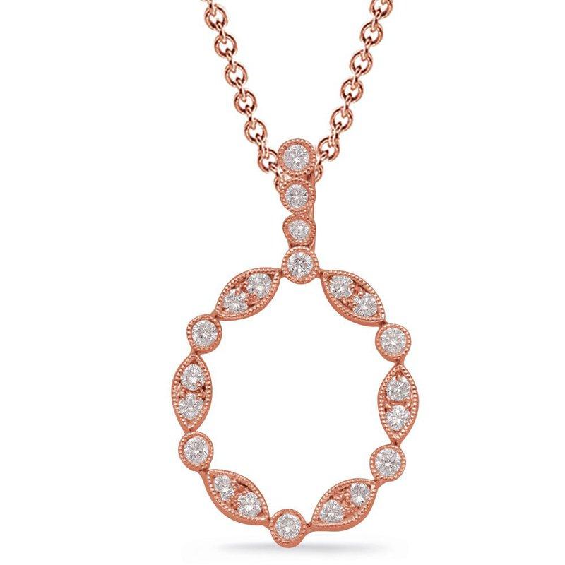 S.KASHI Rose Gold Diamond Pendant