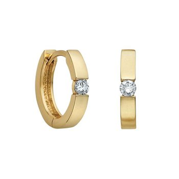 0.33CTW Diamond Solitaire Huggies