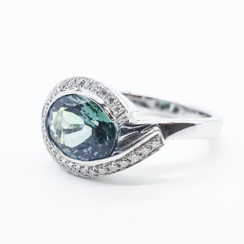 Green Tanzanite Ring