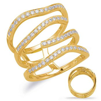 Yellow Gold Diamond Wide Band