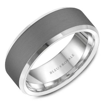Tantalum and 14K White Gold Band