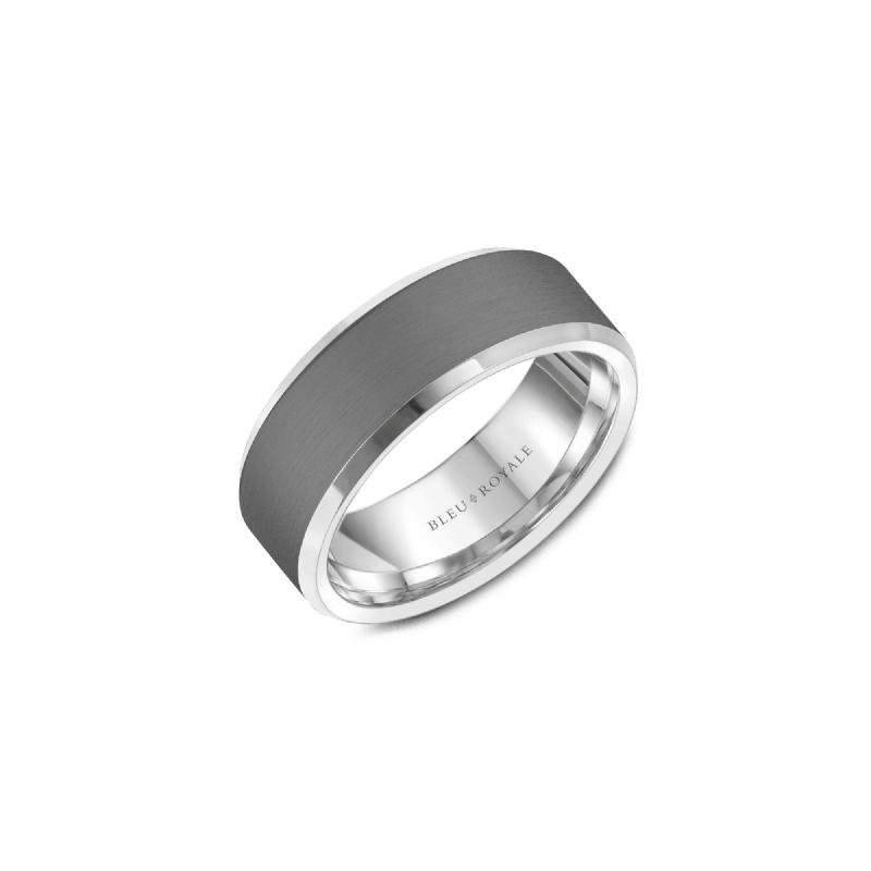 CrownRing Tantalum and 14K White Gold Band