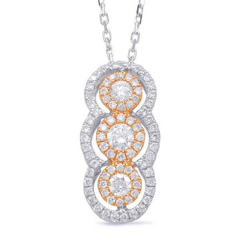 Two-Tone Diamond Drop Pendant