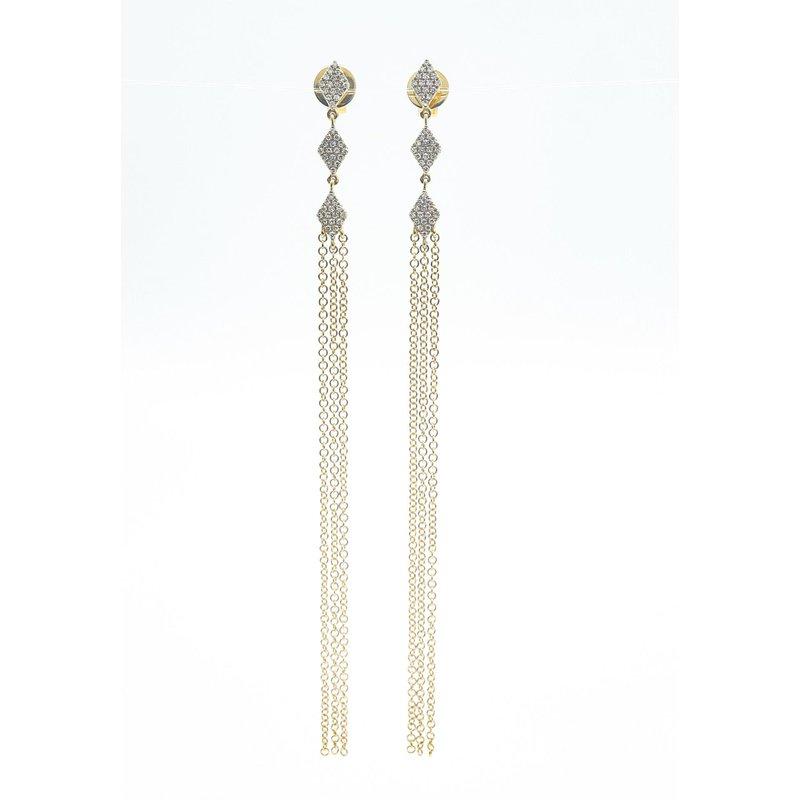 Natalie K Diamond Dangle Earrings