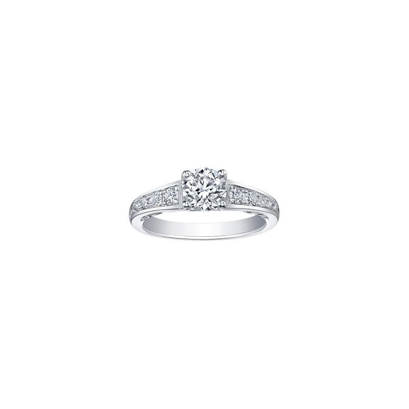 Maple Leaf Diamonds Tides of Love Engagement Ring