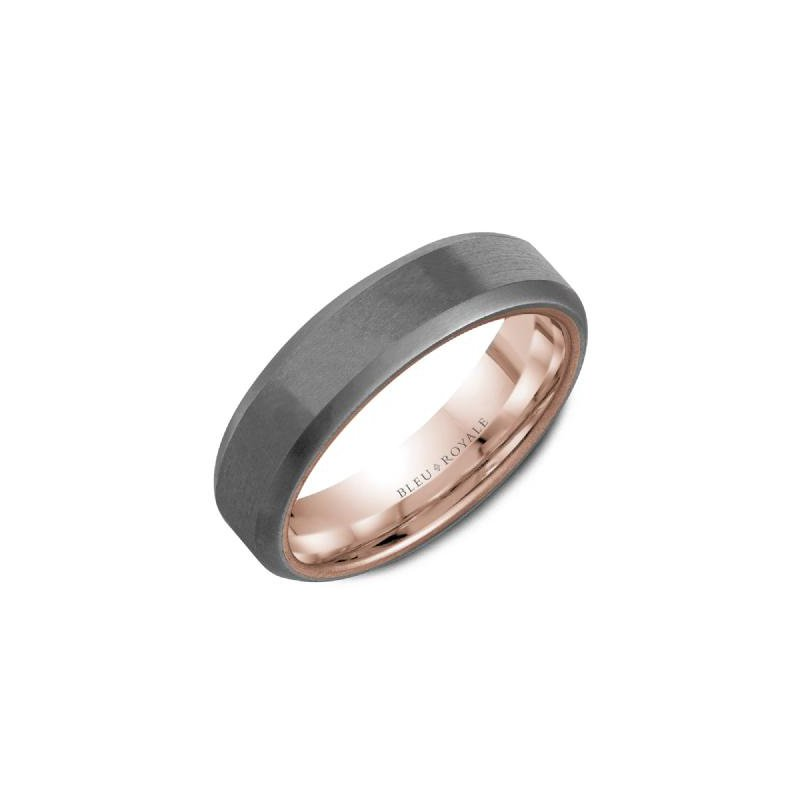 CrownRing 14K Rose Gold & Tantalum