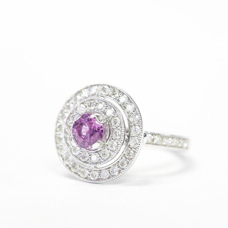 Diamond Days Pink Sapphire & Diamond Ring