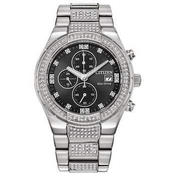 Men's Eco-Drive Watch- Crystal