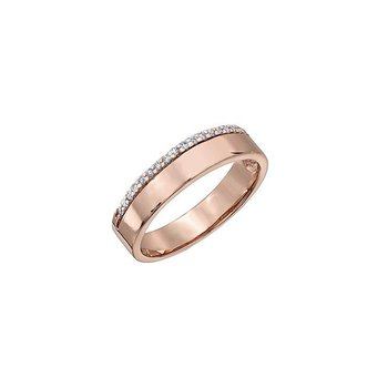 Rose Gold Band With Diamond Accent