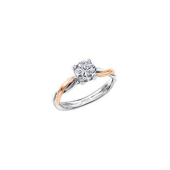 0.30CT Round Diamond Ring With Twist Band
