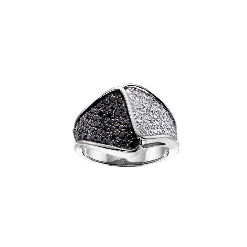 Diamond Days Black And White Diamond Ring