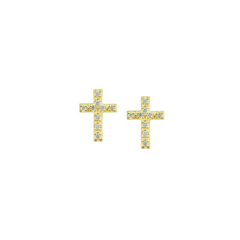 Diamond Days Diamond Cross Earrings