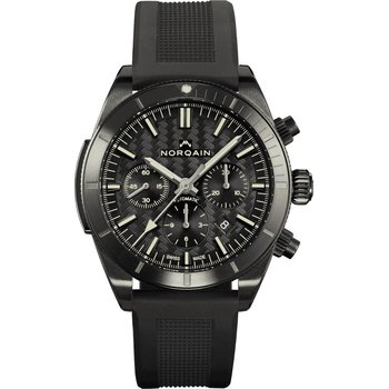 Adventure Sport Chrono Blacksteel Black Dial & Black Counters Black Rubber Strap Blacksteel Buckle
