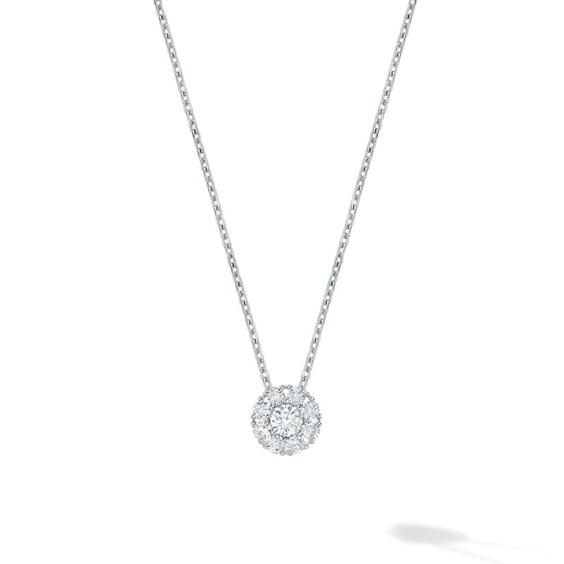 BIRKS SNOWFLAKE- Diamond Cluster Necklace