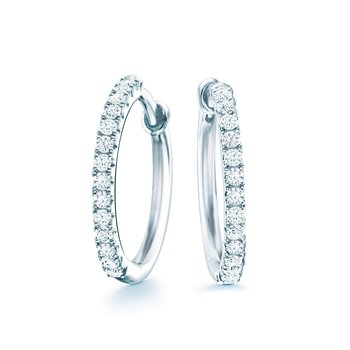 BIRKS ROSÉE DU MATIN Small Diamond Hoop Earrings