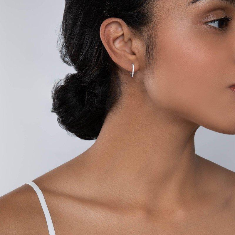 Bijoux Birks BIRKS ROSÉE DU MATIN Small Diamond Hoop Earrings