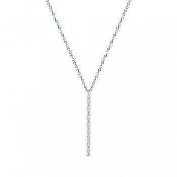 BIRKS ROSÉE DU MATIN Vertical Diamond Bar Necklace