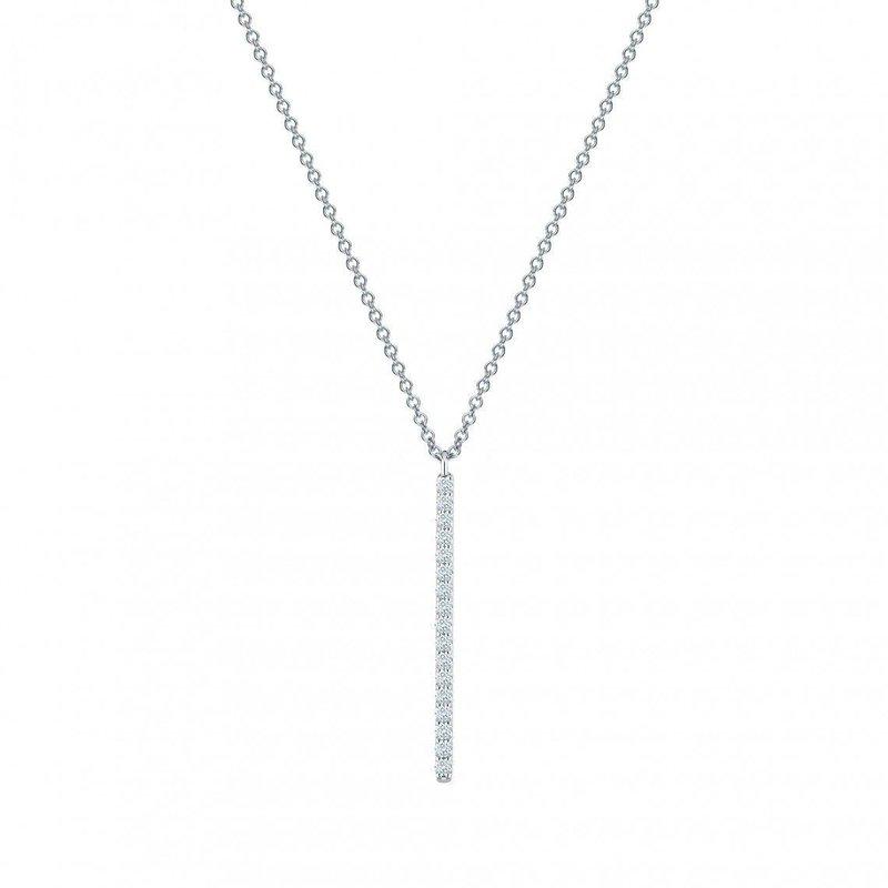 Bijoux Birks BIRKS ROSÉE DU MATIN Vertical Diamond Bar Necklace