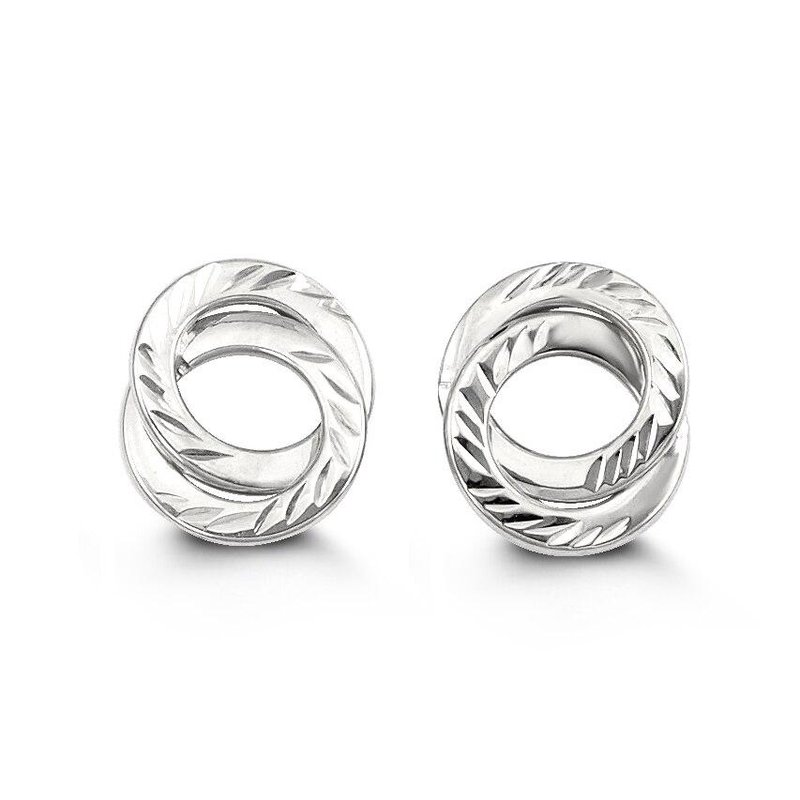 Richardson Signature White Gold Circle Studs