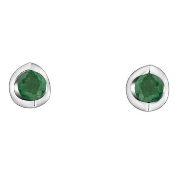 Emerald Solitaire Earrings