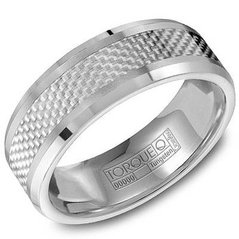 Tungsten Carbon Fiber Inlay Band