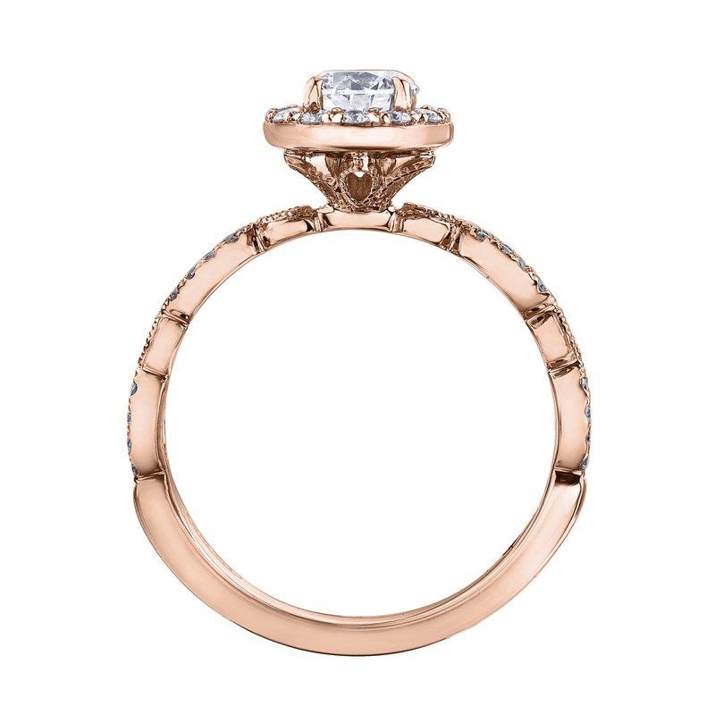 Maple Leaf Diamonds Rose Gold Halo Diamond Ring