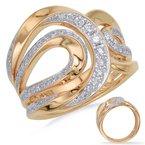 S.KASHI Yellow Gold Diamond Dinner Ring