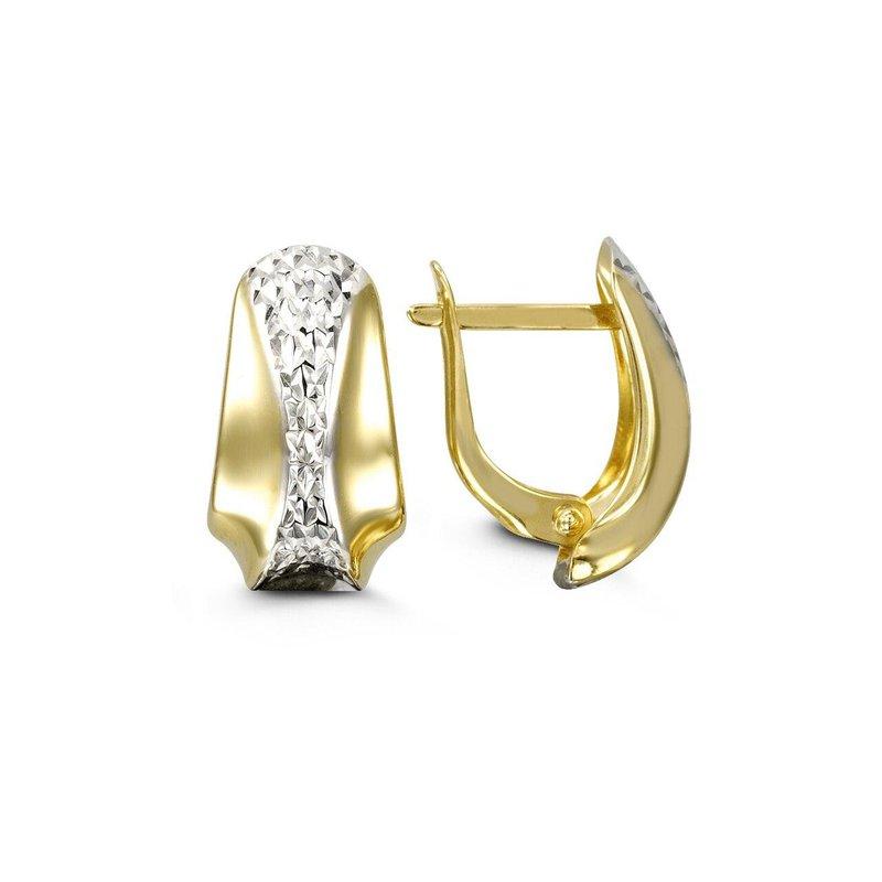 Richardson Signature Two-Tone Drop Earrings