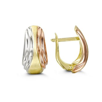 Tri-Gold Earrings