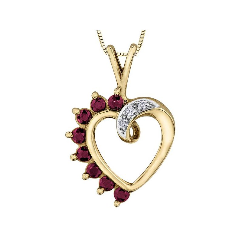 Forever Jewellery Ruby Heart Pendant