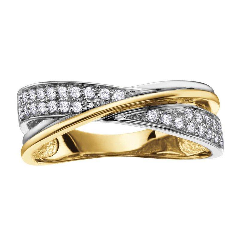 Diamond Days Criss-Cross Diamond Ring