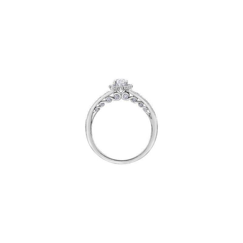 Maple Leaf Diamonds Oval Diamond Engagement Ring