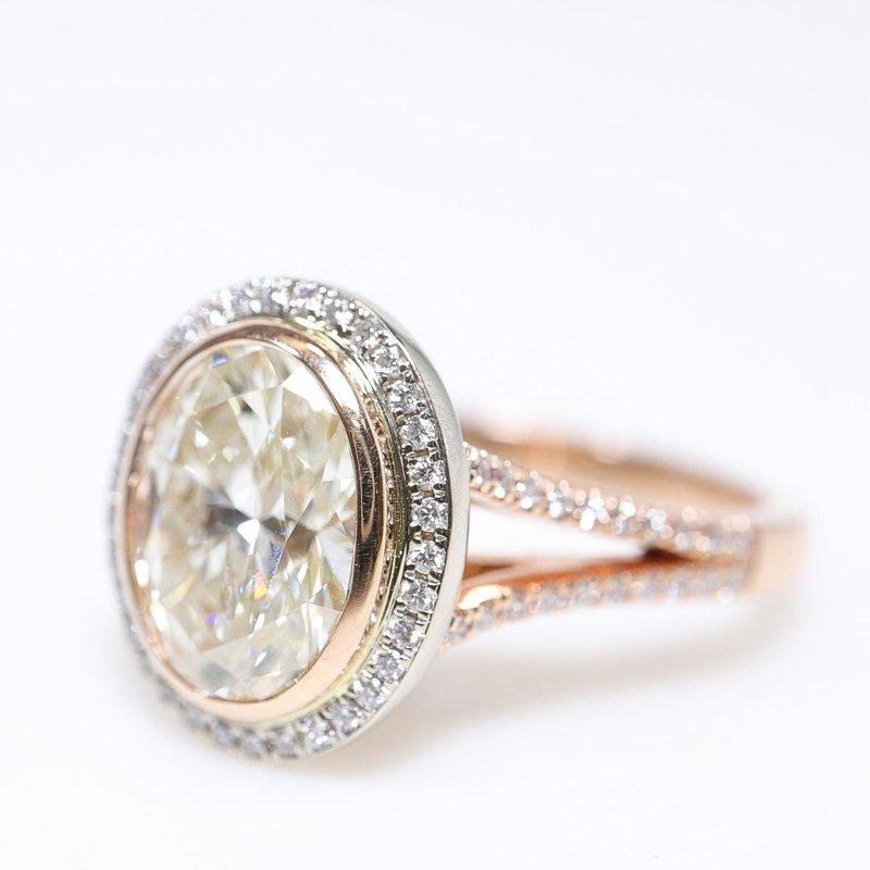 Richardson Signature Oval Diamond Engagement Ring
