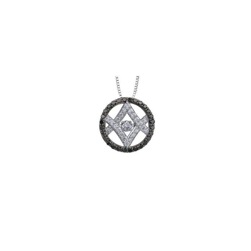 Diamond Days Black & White Diamond Pulse Pendant