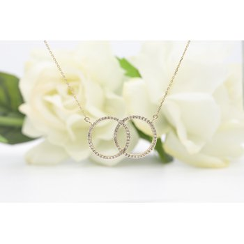 Interlocking Diamond Necklace