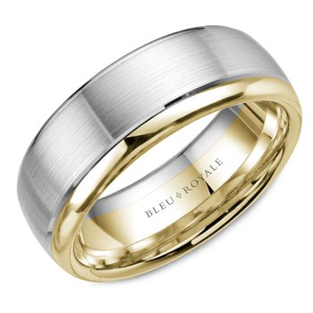 Bleu Royale Men's Wedding Band RYL-006WY75