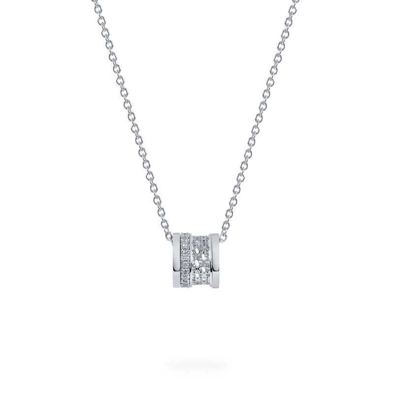 Bijoux Birks BIRKS DARE TO DREAM  White Gold Diamond Stacked Pendant