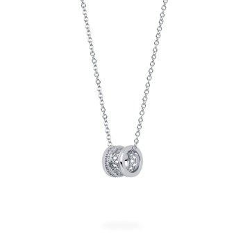 BIRKS DARE TO DREAM  White Gold Diamond Stacked Pendant