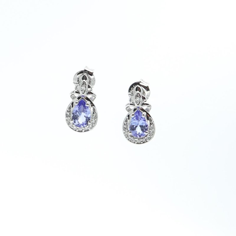 Richardson Signature Tanzanite & Diamond Earrings