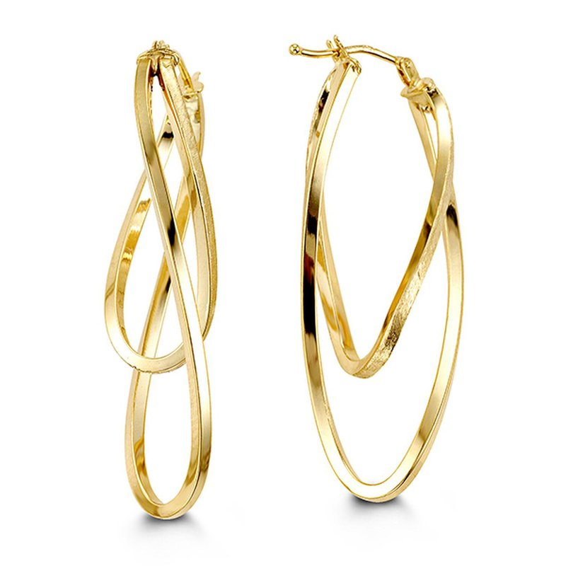 Richardson Signature Large Double Hoop Earrings