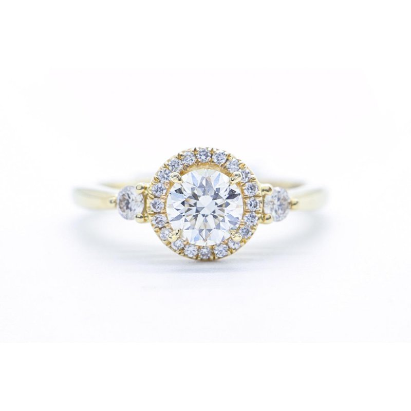 Maple Leaf Diamonds Vintage-Inspired Diamond Halo Ring