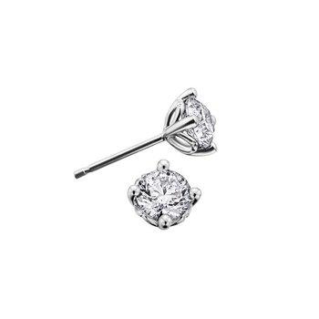 0.10CTW Canadian Diamond Solitaire Earrings