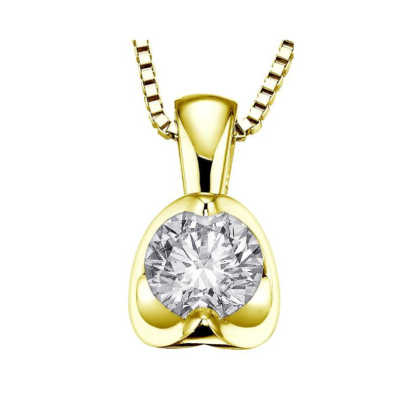 Maple Leaf Diamonds Canadian 0.20CT Diamond Solitaire Pendant