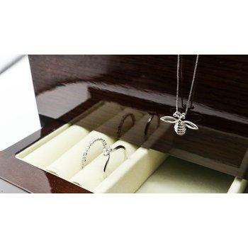 Bee Pendant with Brown Diamonds